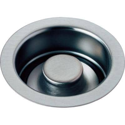 4-1/2 in. Kitchen Sink Disposal and Flange Stopper in Arctic Stainless