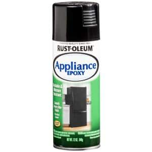 12 oz. Appliance Epoxy Gloss Black Spray Paint (6-Pack)