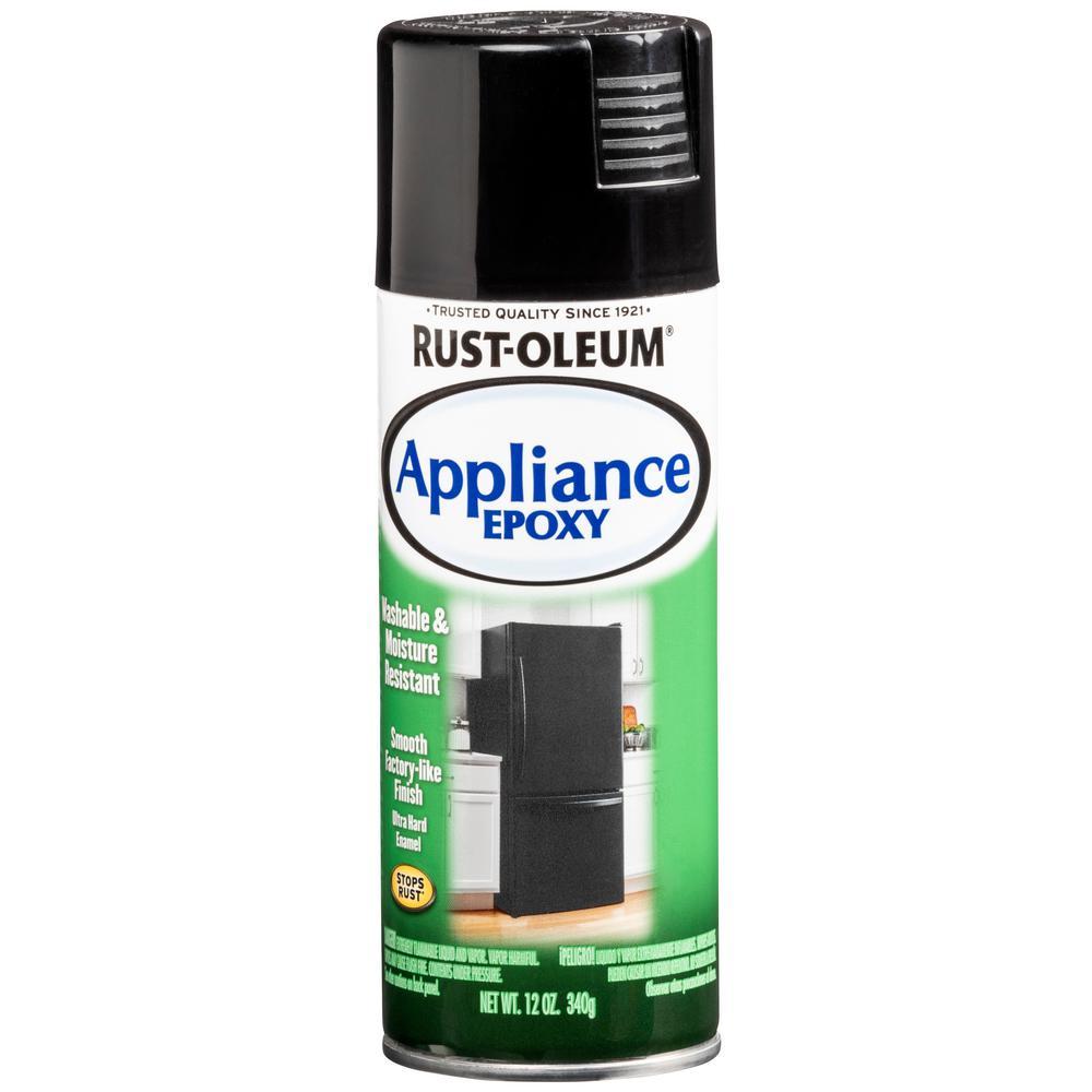12 oz. Appliance Epoxy Gloss Black Spray Paint