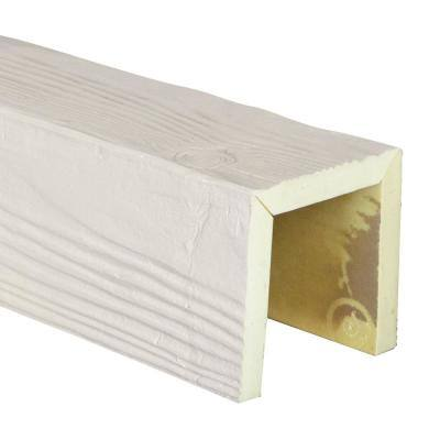 SAMPLE - 6 in. x 12 in. x 6 in. Urethane 3-Sided (U-Beam) Sandblasted Faux Wood Ceiling Beam , Unfinished Finish