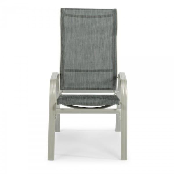 Homestyles Captiva Charcoal Gray 7 Piece Cast Aluminum Rectangular Outdoor Dining Set 6700 3181 The Home Depot