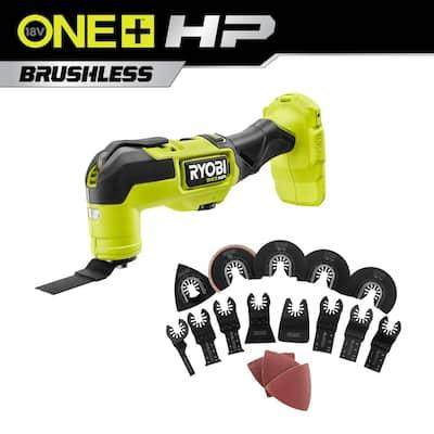 RYOBI ONE+ HP 18V Brushless Cordless Multi-Tool w/ 16-Piece Oscillating Multi-Tool Blade Accessory Set