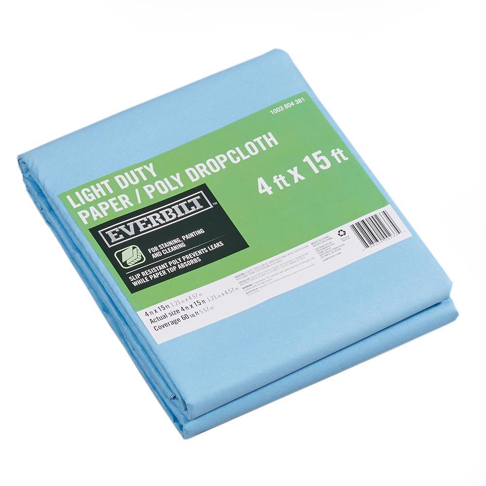 4 ft. x 15 ft. Slip Resistant Paper/Poly Drop Cloth
