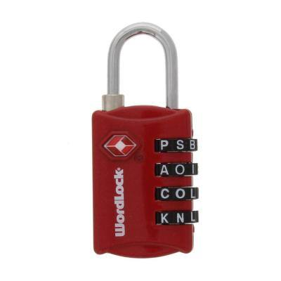 4-Dial Resettable TSA Approved Combination Luggage Lock in Red