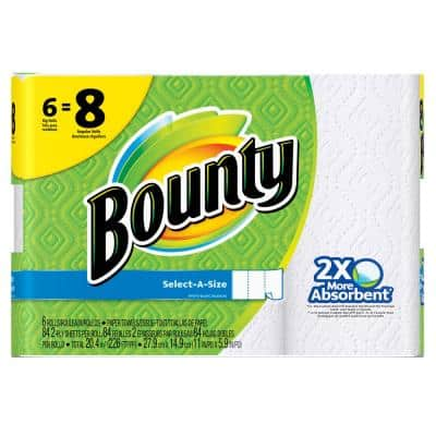 Select-A-Size White Paper Towels (6 Big Rolls)