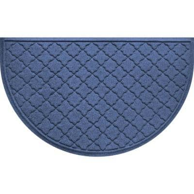 Cordova 24 in. x 39 in Half Round PET Polyester Doormat
