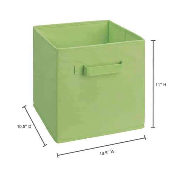 Spring Green 2 Pack ClosetMaid Mini Collapsible Fabric Storage Cube w// Handle