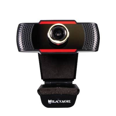 USB 1080p Webcam with Dual Built-In Microphones in Black