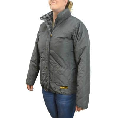 Women's Large 20-Volt MAX XR Lithium-Ion Charcoal Quilted Jacket Kit with 2.0 Ah Battery and Charger