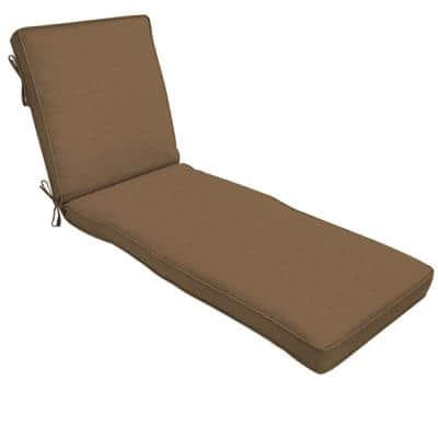 22 x 74 Sunbrella Cast Teak Outdoor Chaise Lounge Cushion