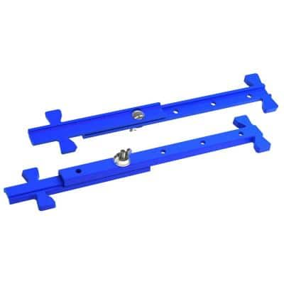 4 in. to 12 in. Cast Aluminum Adjustable Mason Line Stretchers (Pair)