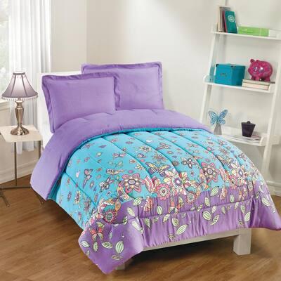 Butterfly Dreams 2-Piece Lavender Twin Comforter Set