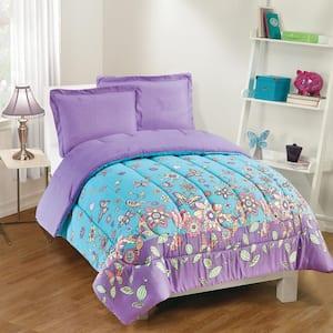 Butterfly Dreams 3-Piece Lavender Full Comforter Set