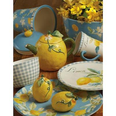 Multi-Colored 15.75 in. Citron Oval Platter