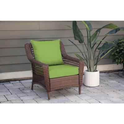Oak Cliff 24 x 24 Sunbrella Canvas Gingko Deep Seating Outdoor Lounge Chair Cushion