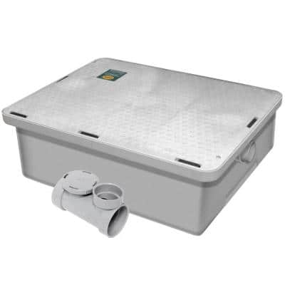 Endura Grease Interceptor 25 GPM 27.75 in. L Low Profile Grease Trap with Flow Control and Air Intake