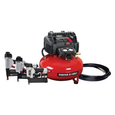 6 Gal. Portable Electric Air Compressor with 16-Gauge, 18-Gauge and 23-Gauge Nailer Combo Kit (3-Tool)