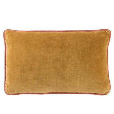 Larabee Solid Gold/ Cream Down Lumbar Pillow