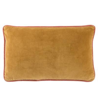 Larabee Solid Gold/ Cream Poly Lumbar Pillow