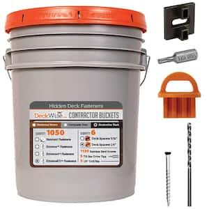 ExtremeKD Ipe Clip Black Biscuit Style Hidden Deck Fastener Kit for Hardwoods (1050-Bucket)