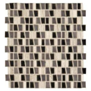 Studio Life Street 12 in. x 12 in. x 8 mm Porcelain and Stone Mosaic Wall Tile