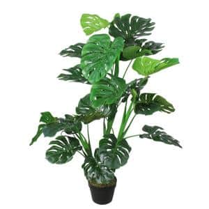 50 in. Potted Green Artificial Monstera Plant