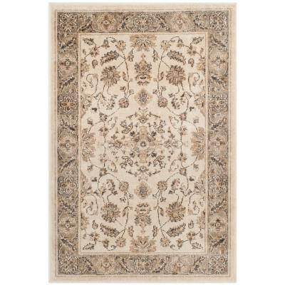 Vintage Stone/Mouse 2 ft. x 3 ft. Border Area Rug