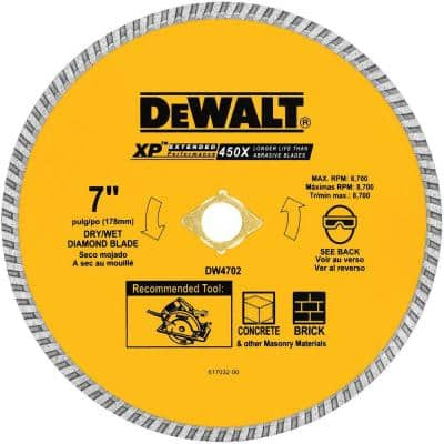 7 in. Concrete and Brick Diamond Circular Saw Blade