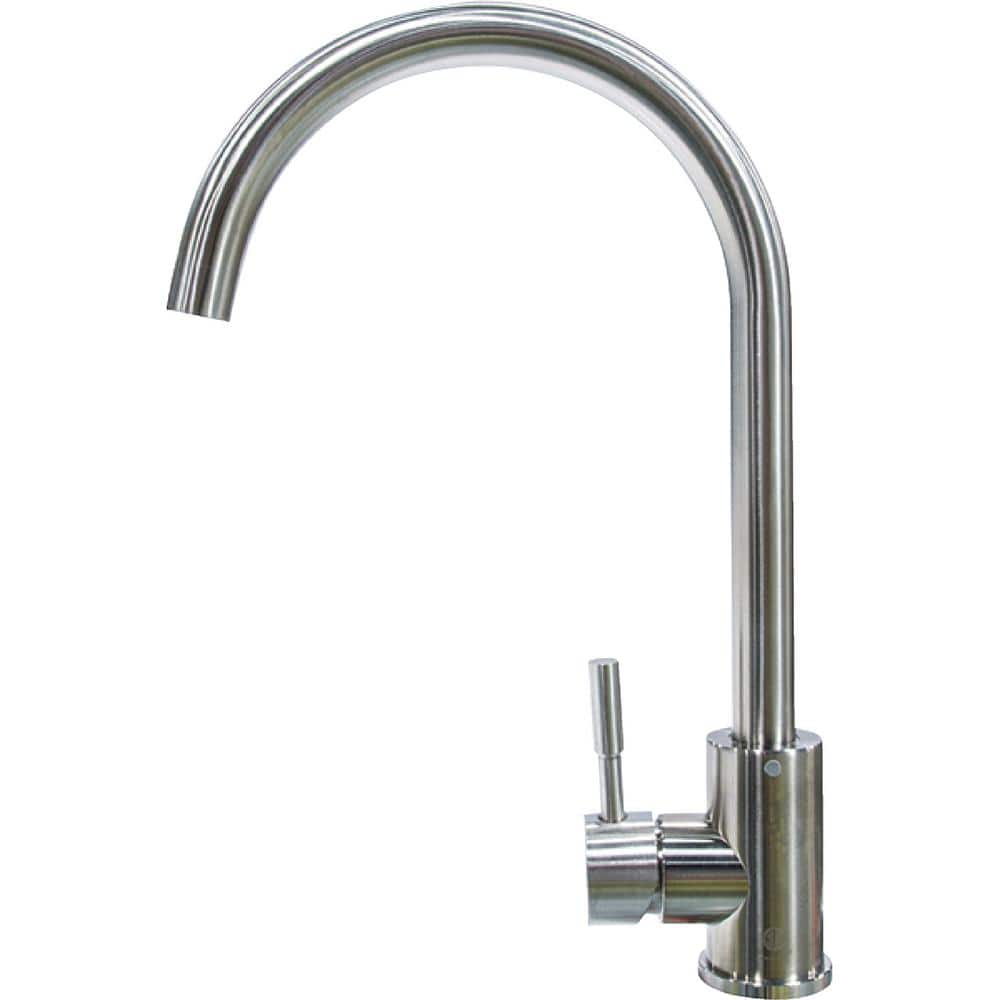 lippert flow max rv kitchen faucet curved gooseneck shaped 719324 the home depot