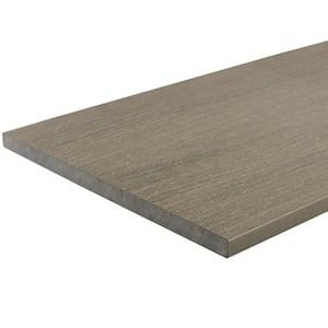 UltraShield 0.6 in. x 12 in. x 12 in. Roman Antique Fascia Composite Decking Board Sample