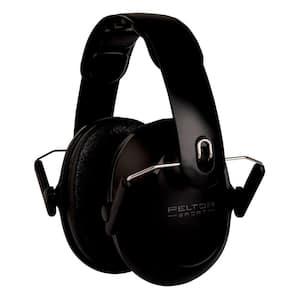 Black Peltor Sport Kids Hearing Protection Reusable Earmuffs, NRR 22 db (Case Pack of 4)