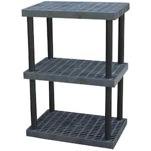 36 in. x 24 in. Plastic Bulk Shelf and Storage 3-Shelf