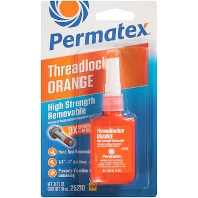 0.34 fl. oz. High Strength Removable Orange Threadlocker