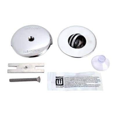 2.875 in. NuFit PresFlo Bathtub Stopper with 1-Hole Overflow and Silicone Kit in Chrome Plated