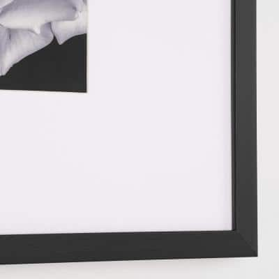 StyleWell Black Frame with White Matte Gallery Wall Picture Frames (Set of 4)