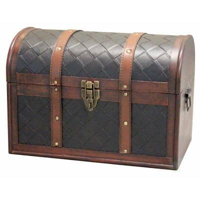Decorative Brown storage Trunk with Lockable Latch