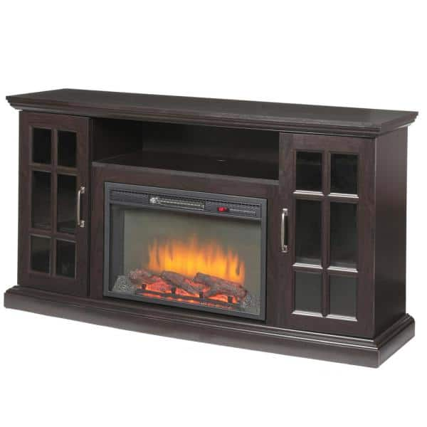 Home Decorators Collection Edenfield 59 In Freestanding Infrared Electric Fireplace Tv Stand In Espresso 365 302 48 Y The Home Depot