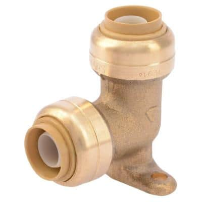 1/2 in. Push-to-Connect Brass 90-Degree Drop Ear Elbow Fitting