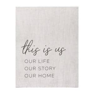 Victoria Wooden ''Life Story Home'' Oversized White Wall Decor