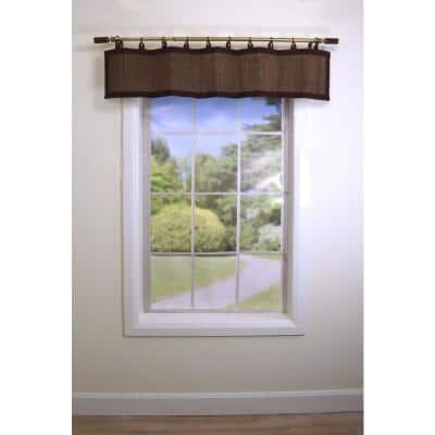 Espresso Light-Filtering Bamboo Valance 48 in. W X 12 in, L
