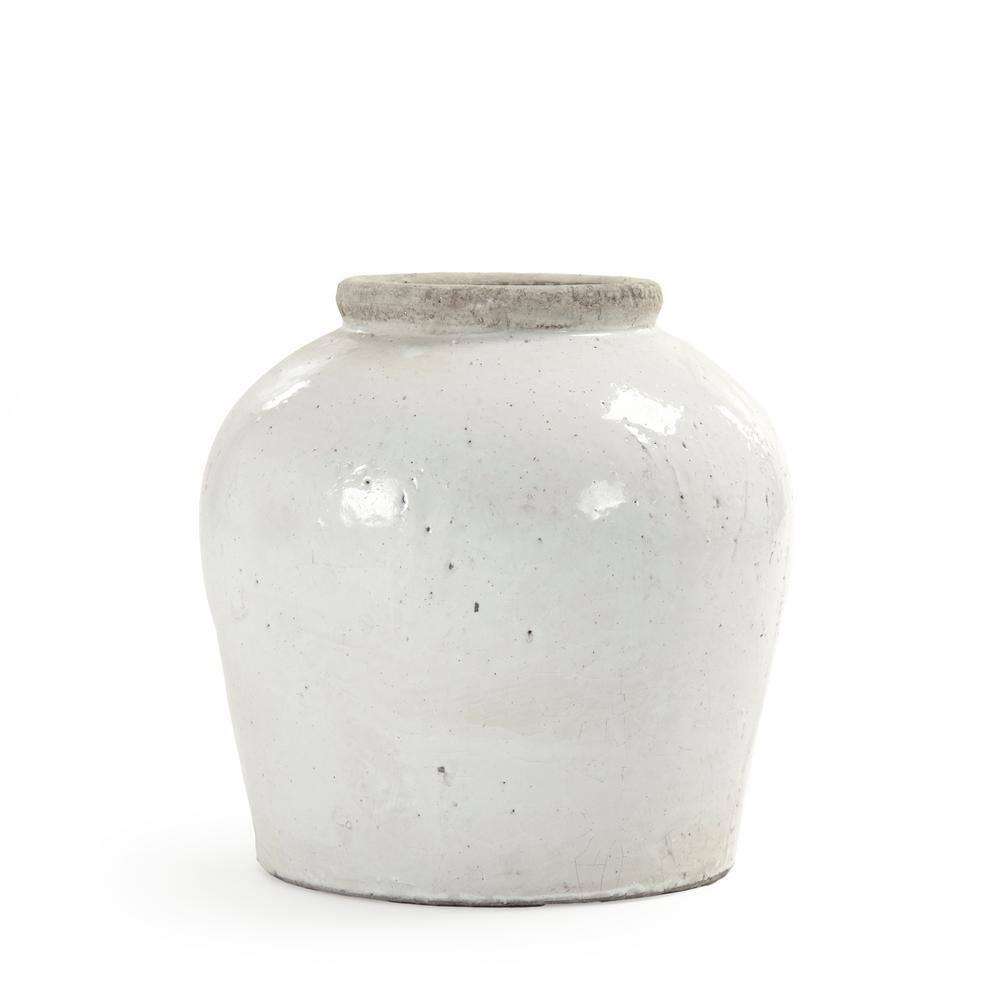Zentique Terracotta Glazed Large Decorative Vase 4869l A25a The Home Depot