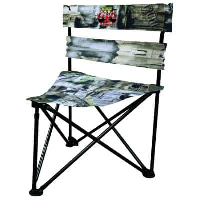 Double Bull Ground Blind Hunting Tri Stool with 360-Degree Swivel