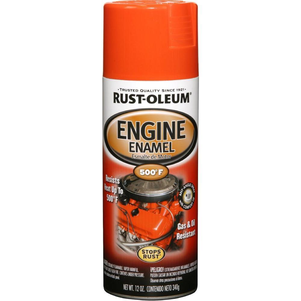 12 oz. Gloss Chevy Orange Engine Enamel Spray Paint (6-Pack)