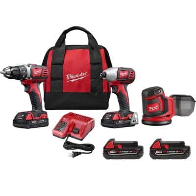 M18 18-Volt Lithium-Ion Cordless Drill Driver/Impact Driver Combo Kit (2-Tool) with Orbit Sander & (2) 2.0 Ah Batteries