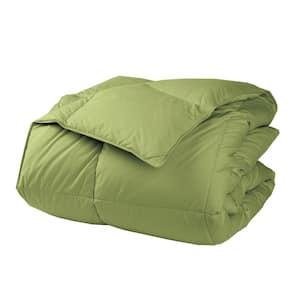 LaCrosse LoftAIRE Light Warmth Fern Green King Down Alternative Comforter
