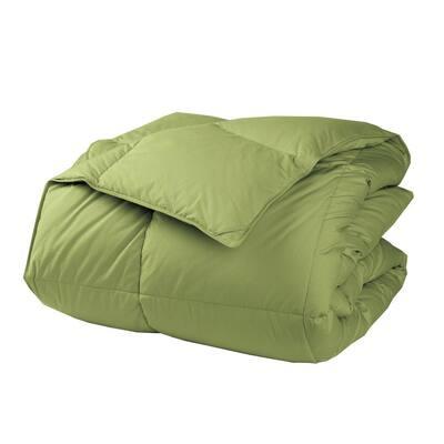 LaCrosse LoftAIRE Medium Warmth Fern Green Full Down Alternative Comforter