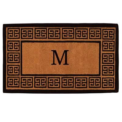 The Grecian Extra-Thick 24 in. x 36 in. Monogram M Door Mat