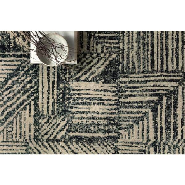 Loloi Ii Bowery Midnight Taupe 9 Ft 6 In X 12 Ft 6 In Contemporary Polypropylene Pile Area Rug Bowebow 01mdta96c6 The Home Depot