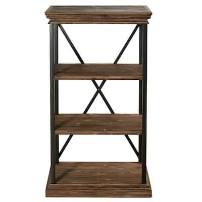Archer Ridge Driftwood Grey 4-Tier Bookcase
