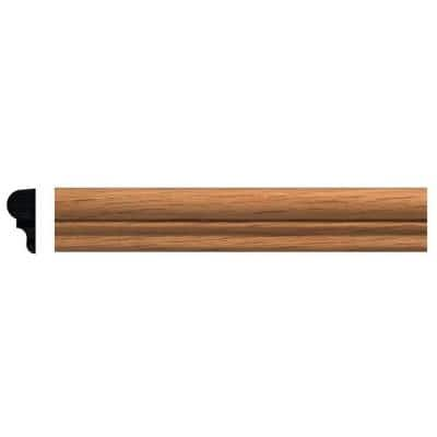 5/16 in. x 11/16 in. x 96 in. Red Oak Panel Colonial Moulding